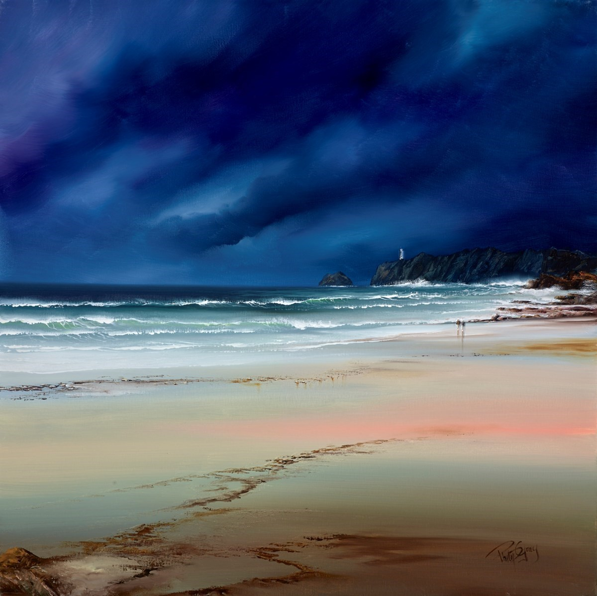 The Lighthouse IV by Philip Gray -  sized 32x32 inches. Available from Whitewall Galleries